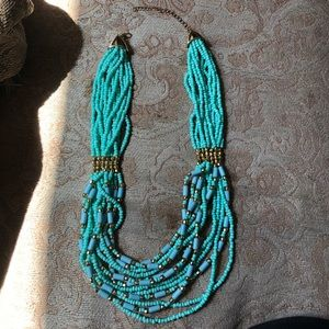 Jewelry - NWOT Turquoise/Cyan Chunky Necklace